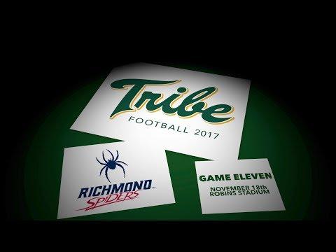 2017 Tribe Football - Game Recap vs. Richmond