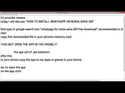 how to install whatsapp on nokia asha 200 (100% working no doubts)