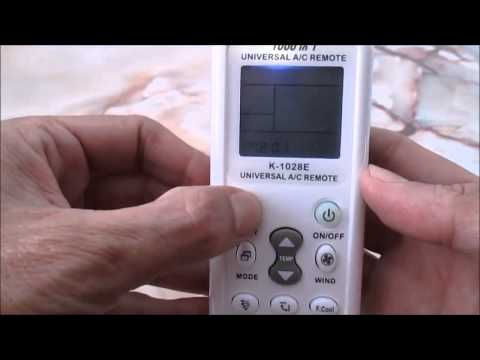 How to set universal Air Con Remote Control replace faulty Remote