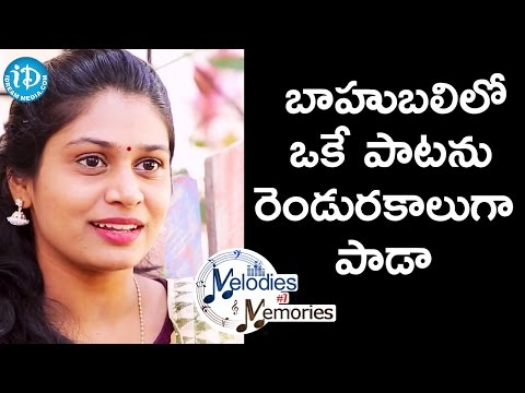 Sang the Same Song in Two Different Ways in Bahubali - Mohana Bhogaraju || Melodies And Memories