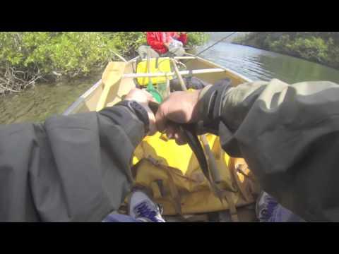 Fly fishing in China Poot Lake, Alaska
