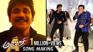 akkineni song making nagarjuna dance with akhil akhil movie