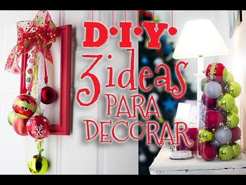 diy ideas facil y rapidas para decorar especial de navidad youtube