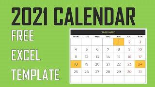 2021 Excel Calendar Template - 21 Designs - Free Download screenshot 3