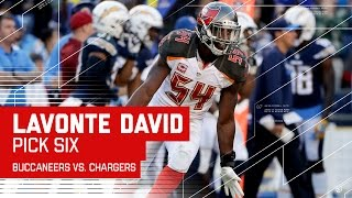 Lavonte David Picks Off Philip Rivers & Returns it for a TD! | Buccaneers vs. Chargers | NFL