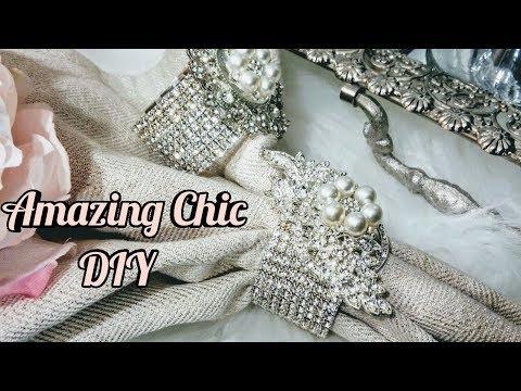 DIY Inexpensive Chic Napkin Rings| Glam Home Decor 2018