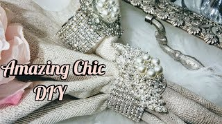 DIY Inexpensive Chic Napkin Rings| Glam Home Decor 2018