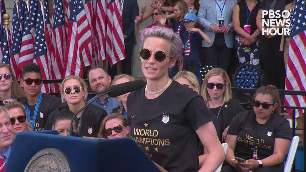 WATCH: Soccer star Megan Rapinoe's full remarks at World Cup parade