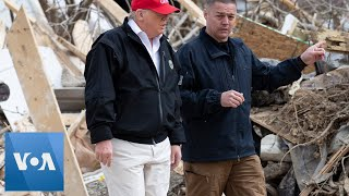President Trump Tours Areas Damaged by Tornado in Tennessee