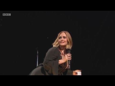 Adele swears at Glastonbury Festival 2016