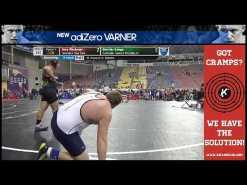 3687 Cadet 285 Mat 3 Branden Lange Evansville Demons Wrestling Cl vs Joey Slackman Commack Claw Club