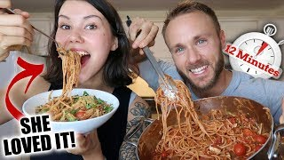 Veggie Protein Pasta & Vegan Cheesy Crumble 🍝 FAST, EASY, HEALTHY RECIPE