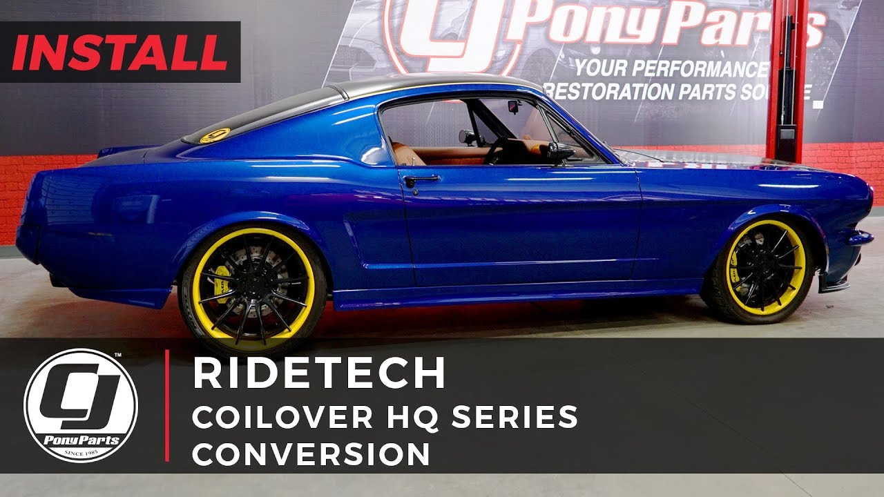1966 Mustang Parts >> Mustang Install Ridetech Hq Series Coilover Suspension Kit For All