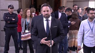 "Abascal: ""Hoy se han vivido momentos tristes para los españoles"""