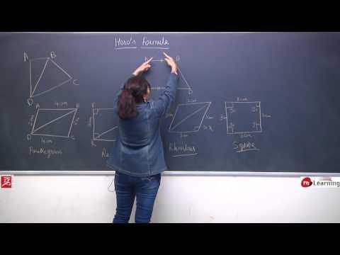 Heron's Formula: Calculating Area of Quadrilateral Using Heron's Formula -STD IX: 05/10