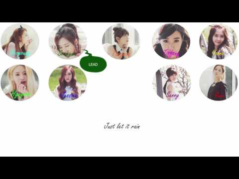 Girls' Generation (少女時代) - Let It Rain Lyrics [Color Coded/ROM]