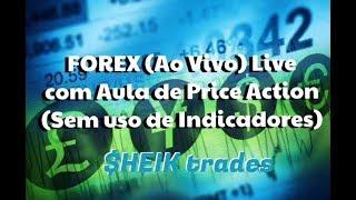 Forex (Ao vivo) LIVE - com Aula de Price Action sem indicadores - 14/02/2018