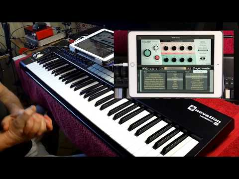 SynthMaster Player AUv3 Through Klevgrand Reamp AUv3 - iPad Demo