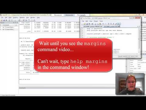 Stata Postestimation Commands.  Using -predict-