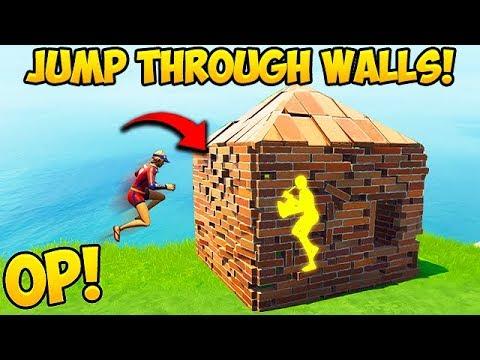 *NEW OP TRICK* JUMP THROUGH WALLS! - Fortnite Funny Fails and WTF Moments! #386