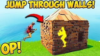 *NEW OP TRICK* JUMP THROUGH WALLS! - Fortnite Funny Fails and WTF Moments! #386