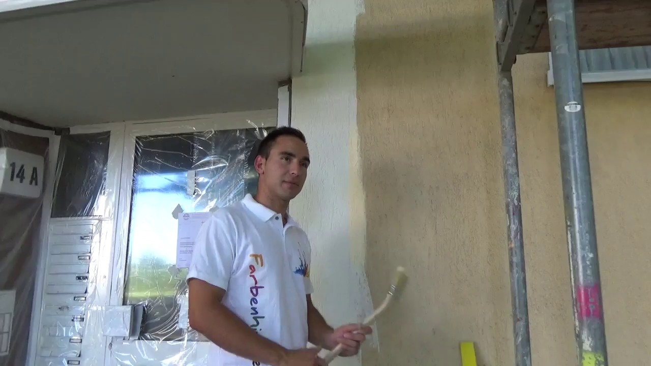 Favorit Scharfe Farbkante beim Fassade streichen auf rauem Putz - YouTube CR54