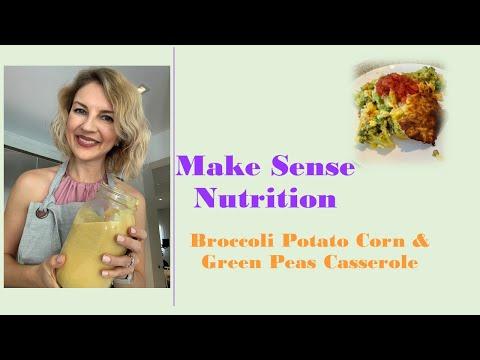 Vegan Broccoli + Potato + Corn + Peas Casserole