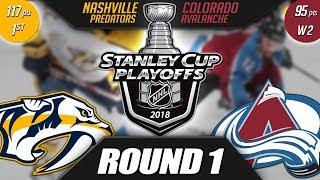 Nashville Predators vs Colorado Avalanche - Round 1 Playoff Preview