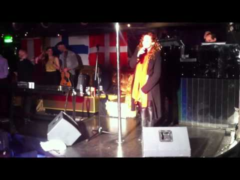 """Valentina Monetta Sings """"Crisalide"""" Live During Soundcheck at London Eurovision Party 2013"""