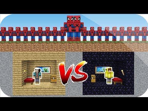 örümcek adam istilasi vs minecraft 3