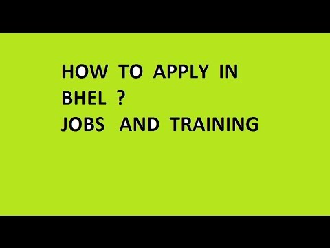 How To Apply in BHEL for TRAINING | PROCEDURE Vi