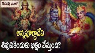 Why Lord Shiva Taking Alms from Annapurna Devi || అన్నపూర్ణాదేవి శివుడికి ఎందుకు భిక్షమేసింది?