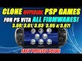 CLONE PSPGAMES  FOR PS VITA FIRMWARE'S! 3.60, 3.61, 3.63, 3.65!
