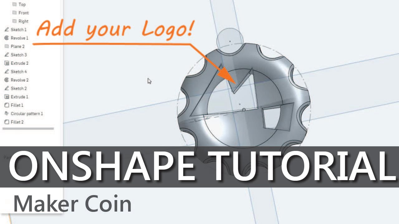 How to CAD your own Maker Coins in Onshape - YouTube