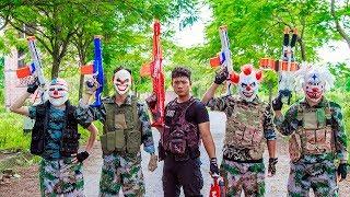 NERF WAR : SWAT Warriors Nerf Guns Battle Criminal Group Mask