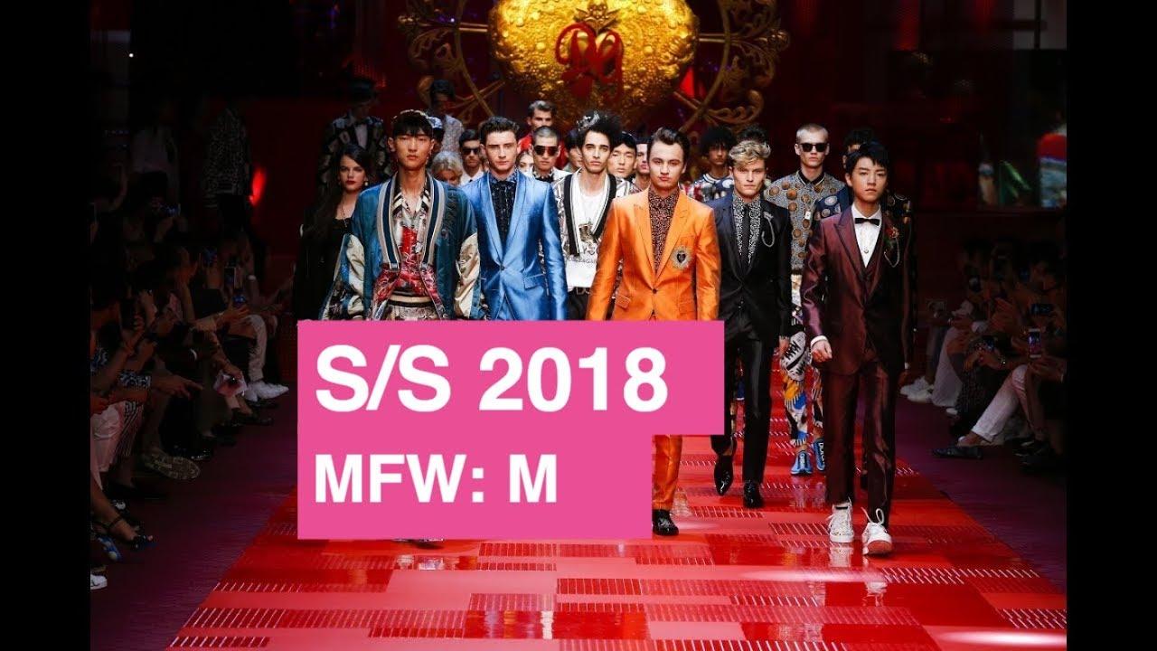9d05b7d21f80 Dolce & Gabbana Spring 2018 Men's/Womens Runway Show | Global Fashion News