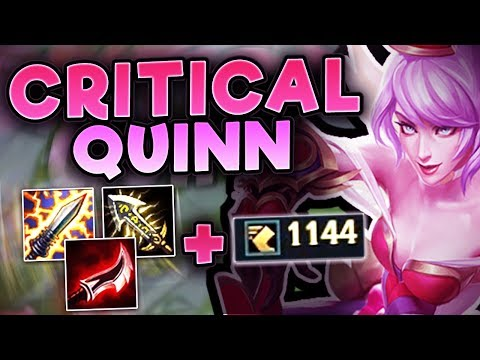 NEW CRITICAL QUINN BUILD! NO ONE IS SAFE FROM ME! NEW CRIT QUINN TOP SEASON 7! League Of Legends