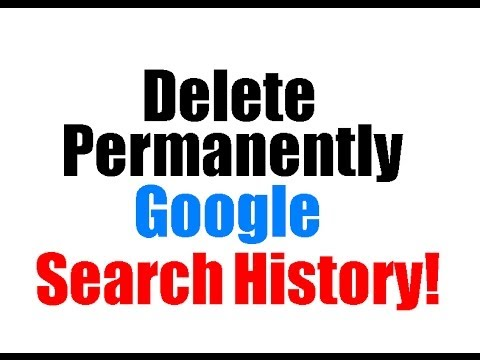 How to permanently delete google search history on iphone