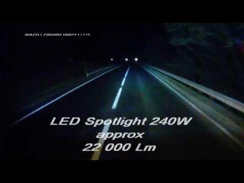 Renault Premium Euro 5. Штатный ближний свет и светодиодный прожектор. Дальнобой.