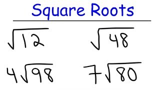 How To Simplify Sqขare Roots