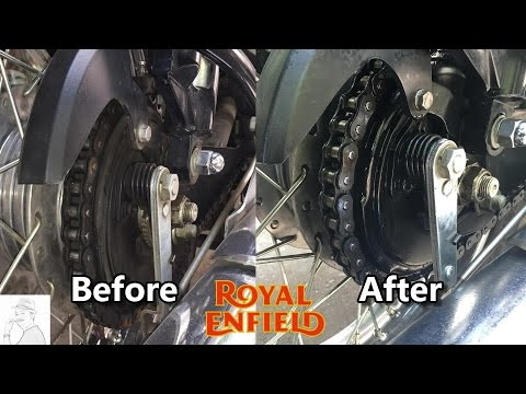 How to clean the Chain and oiling for your Royal Enfield Bike | lubrication | Bullet