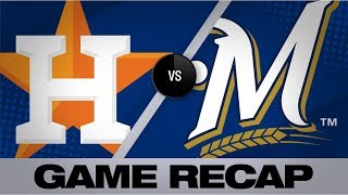Springer's 10th inning HR downs Brewers, 3-2 | Astros-Brewers Game Highlights 9/2/19