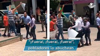 Tras discutir con una persona, quien le recriminó la inseguridad en el estado, el gobernador de Michoacán, Silvano Aureoles, descendió de la camioneta del Ejército Mexicano en el que viajaba, se dirigió al hombre y lo empujó; habitantes del lugar recriminaron la acción del mandatario