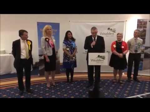 UK Election 2017 - The Wealden Constituency Declaration