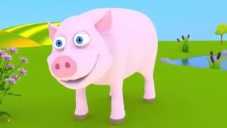 Домашние животные Мультик для детей Синий Трактор