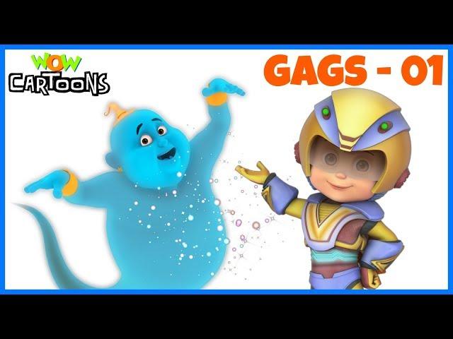 Vir The Robot Boy   Action Cartoons for Kids   Gintu Gags - 1   3D Hindi Cartoon