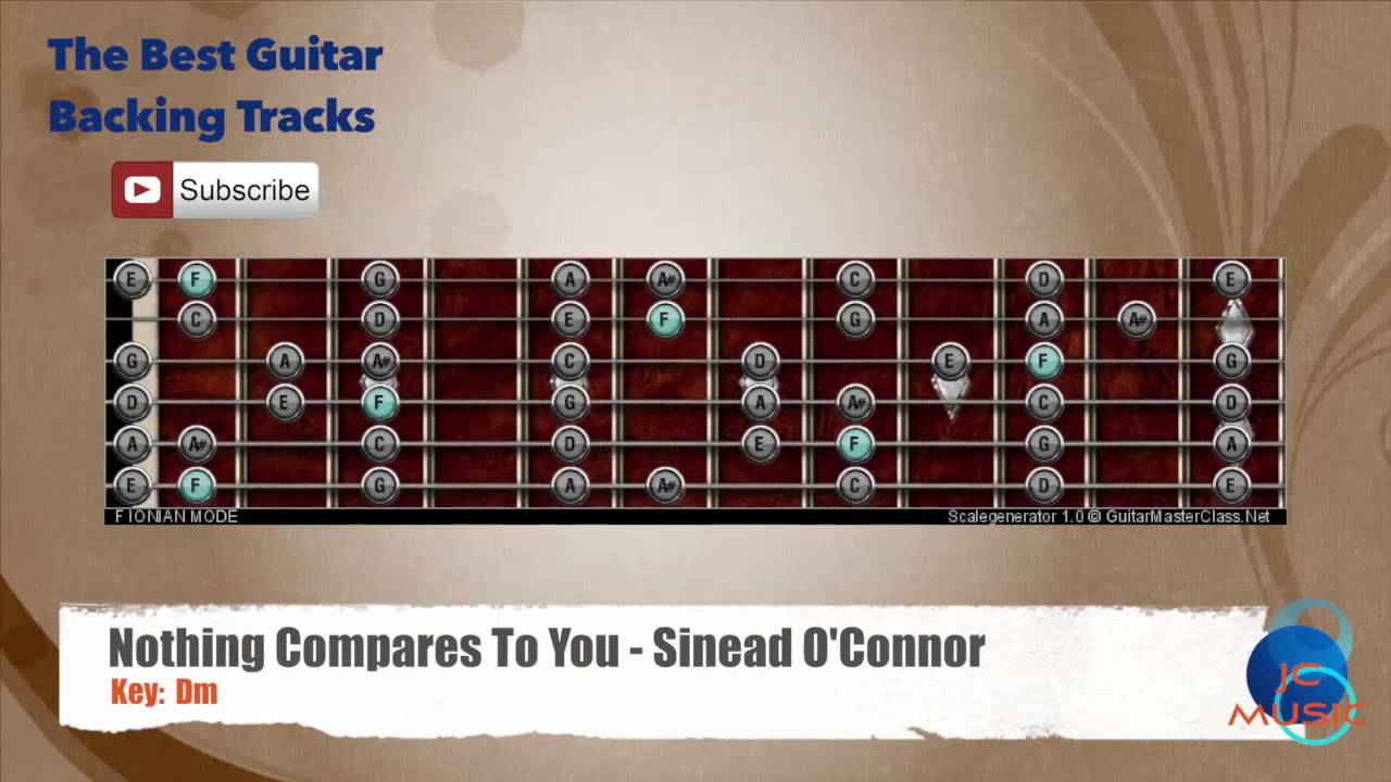 Nothing Compares To You Sinead Oconnor Guitar Backing Track With
