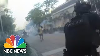 Video Shows FL Officers Laugh After Shooting Rubber Bullets At Protesters | NBC News NOW