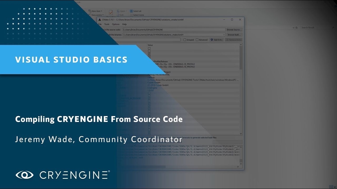 Building CRYENGINE From GitHub