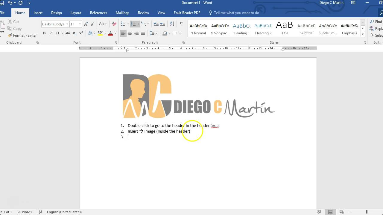 adding logo image to header on ms word 2016 no sound youtube